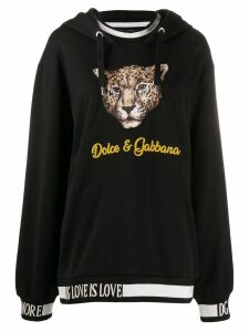 Dolce & Gabbana leopard print Hoodie - Black