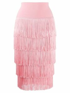 Norma Kamali fringed skirt - PINK