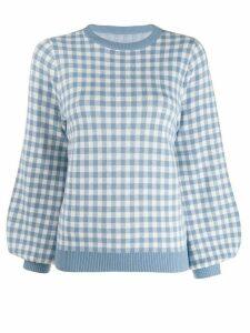 Shrimps gingham sweatshirt - Blue