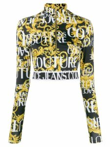 Versace Jeans Couture cropped printed sweatshirt - Yellow