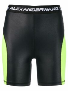 T By Alexander Wang logo cycling shorts - Black