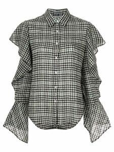 Dawei ruffled sleeve shirt - Black