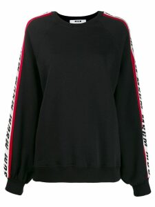 MSGM side logo sweatshirt - Black
