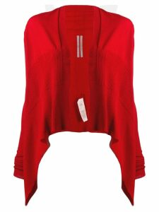 Rick Owens cropped draped cardigan - Red