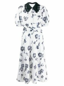 Self-Portrait sequin floral dress - White