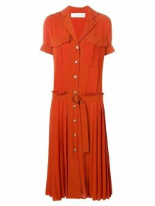 Victoria Victoria Beckham pleat detail shirt dress - Orange