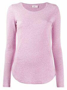 Closed long-sleeve fitted top - Pink