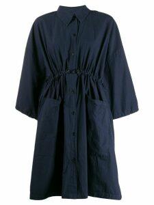 Henrik Vibskov cropped sleeve shirt dress - Blue