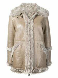 Manzoni 24 shearling jacket - NEUTRALS