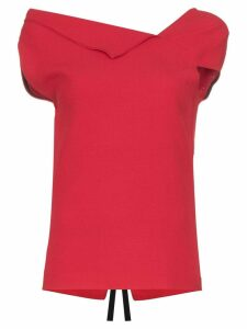 Roland Mouret Raywell origami top - Red