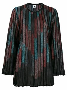 M Missoni abstract print ribbed jumper - Black