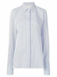 Stella McCartney oversized striped shirt - Blue
