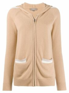 N.Peal zip through hoodie - NEUTRALS