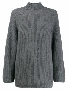 N.Peal relaxed fit ribbed jumper - Grey