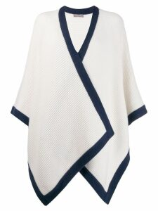 N.Peal contrast edge cape cardigan - Neutrals
