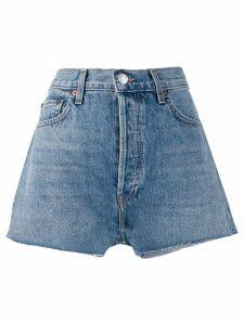 Re/Done high-waisted denim shorts - Blue