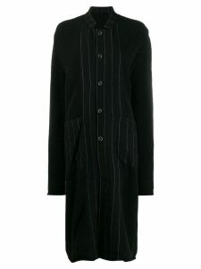 Uma Wang collared long-length cardigan - Black