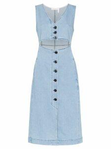 See by Chloé cut-out denim midi dress - Blue