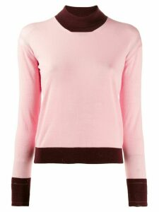 Golden Goose contrast trim jumper - PINK