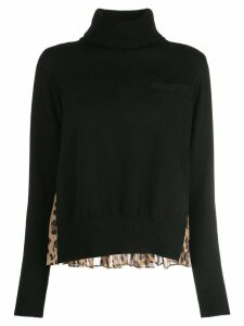 Sacai knit hybrid sweater - Black