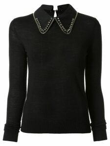 Nº21 embellished collar jumper - Black