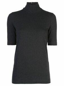 Brunello Cucinelli high neck top - Grey
