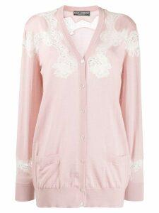 Dolce & Gabbana lace cardigan - PINK