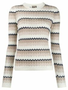 N.Peal wave stripe sweater - NEUTRALS