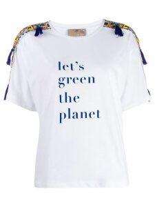 Pinko x Stella Jean x Treedom printed T-shirt - White