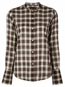Nili Lotan check print shirt - Black