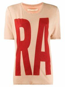 Raquel Allegra boxy printed T-shirt - NEUTRALS