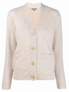 N.Peal colour block cardigan - NEUTRALS