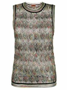 Missoni geometric pattern knitted top - Black
