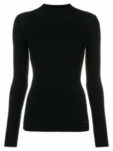 Emporio Armani ribbed high-neck sweater - Black