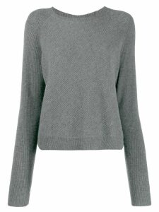 N.Peal cropped knitted jumper - Grey