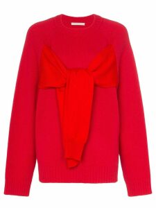 Christopher Kane tie-front jumper - Red