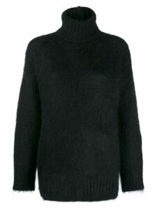 Nº21 turtle knit jumper - Black