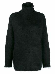 Nº21 turtle knit jumper - Black