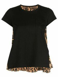 Sacai hybrid T-shirt - Black