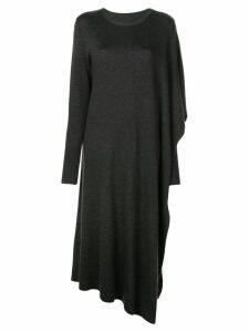 Oscar de la Renta longline knitted poncho - Grey