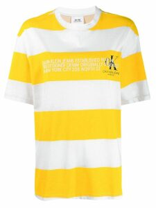 Calvin Klein Jeans Est. 1978 logo striped T-Shirt - Yellow