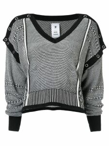 Maison Mihara Yasuhiro striped cropped jumper - Black