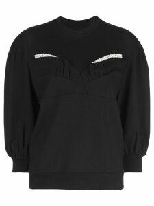 Simone Rocha pearl detail sweatshirt - Black