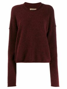 Uma Wang worn effect jumper - Red