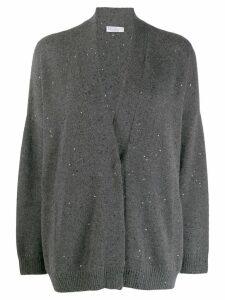 Brunello Cucinelli sequin embroidered cardigan - Grey