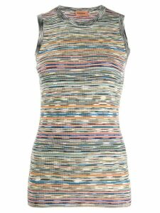 Missoni striped ribbed top - Black