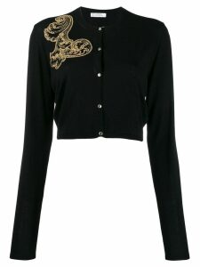 Versace Collection embroidered cardigan - Black