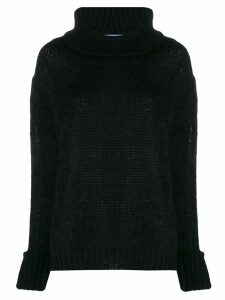 Prada oversized knitted jumper - Black