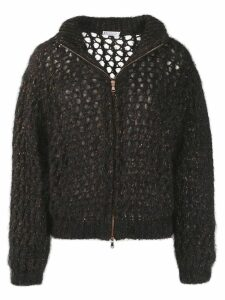 Brunello Cucinelli sparkling net cardigan - Black