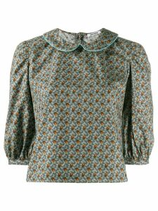 Batsheva floral Peter Pan collar blouse - Blue